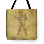Baseball Catcher's Mask Patent Tote Bag