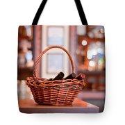Basket With Wine Bottles Tote Bag
