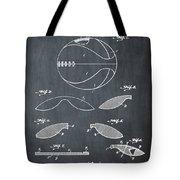 Basketball Patent 1916 Black Tote Bag