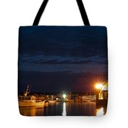 Bass Harbor At Night Tote Bag