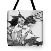 Bathed In White Light Tote Bag by Rene Capone