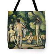 Bathers Tote Bag by Paul Cezanne