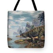 Batrachotomus Dinosaurs -3d Render Tote Bag