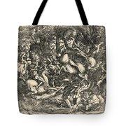 Battle Of Nude Men Tote Bag