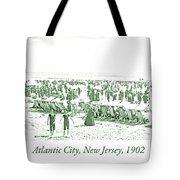 Beach, Bathers, Ocean, Atlantic City, New Jersey, 1902 Tote Bag