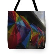 Beach Umbrella Row Tote Bag