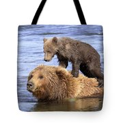 Bear Back Rider Tote Bag