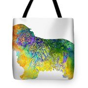 Bearder Collie-colorful Tote Bag