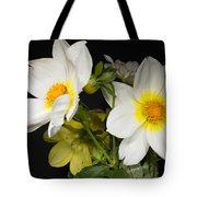 Beautiful Autumn White Flowers Tote Bag