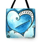 Beautiful Original Acrylic Heart Painting From The Pop Of Love Collection By Madart Tote Bag