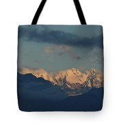 Beautiful Scenic View Of The Mountains In Italy  Tote Bag