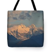 Beautiful View Of The Dolomites Mountains In Italy  Tote Bag
