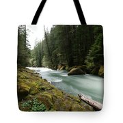 Beautiful White Water Tote Bag