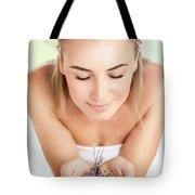Beautiful Woman At Spa Salon Tote Bag