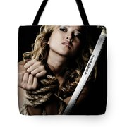 Beautiful Woman Begging For Mercy Tote Bag