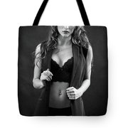 Beautiful Woman Undressing Tote Bag