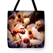 Bee On Apple Blossoms Tote Bag