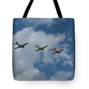 Beechcraft T-34 Mentor Airplane Trio 3 Tote Bag