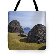 Beehive Stone Huts, Skellig Michael, County Kerry, Ireland Tote Bag