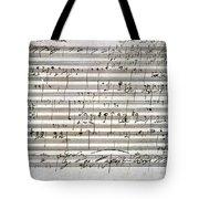 Beethoven Manuscript Tote Bag by Granger