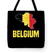 Belgium Flag Apparel Tote Bag