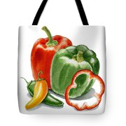 Bell Peppers Jalapeno Tote Bag
