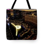 Bellagio Hotel Fountain, Las Vegas Tote Bag