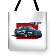 Bentley E X P  10 Speed 6 With  3 D  Badge  Tote Bag