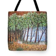 Beside The Pond Tote Bag