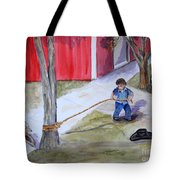 Better The Tree Than Me Tote Bag