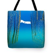 Between Two Mountains. Tote Bag