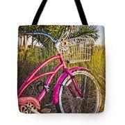 Bicycle At The Beach II Tote Bag