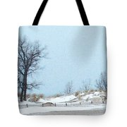 Big Red Lighthouse - View 1 Tote Bag