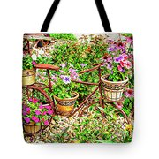 Bike Blossoms Tote Bag