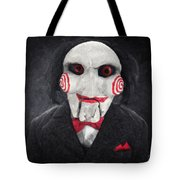 Billy The Puppet Tote Bag