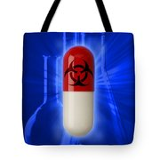 Biohazard Symbol On Capsule Tote Bag