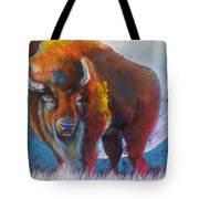 Bison Moon Tote Bag