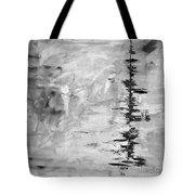 Black Gray Abstract Tote Bag