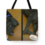 Black Lab - Gently Cross Your Eyes And Focus On The Middle Image Tote Bag