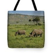 Black Rhinos Tote Bag