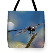Black Spotted Dragonfly Tote Bag