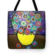 Blooms 6 Tote Bag by Pristine Cartera Turkus