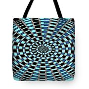 Blue And Black Abstract Tote Bag