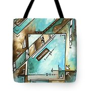 Blue Bonnet Original Abstract Pop Art Style Acrylic Painting By Madart Tote Bag