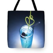 Blue Curacao Cocktail Drink With Cherry Tote Bag