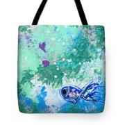 1 Blue Fish Tote Bag