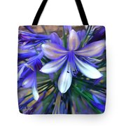 Blue Flowers  Tote Bag