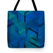 Blue Geometric Composition 1 Tote Bag