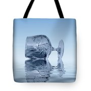Blue Glass Tote Bag