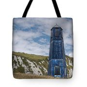 Blue Lighthouse Tote Bag